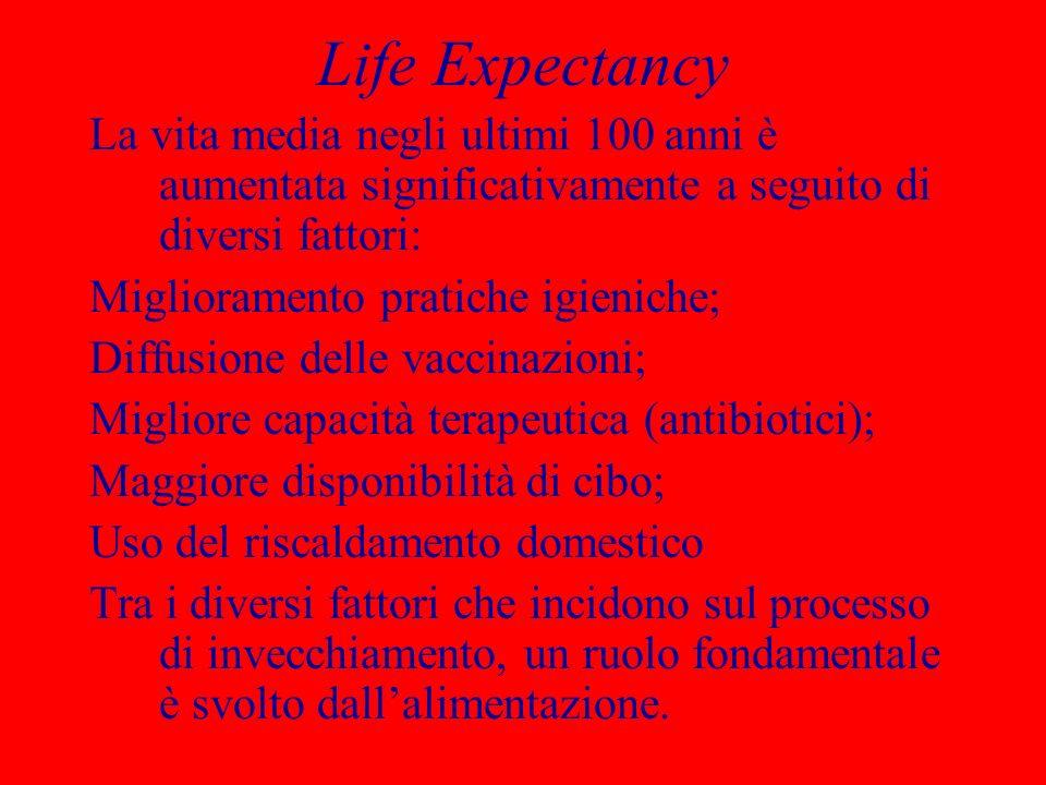 Life Expectancy La vita media negli ultimi 100 anni è aumentata significativamente a seguito di diversi fattori: