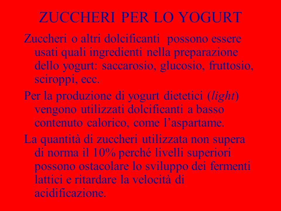 ZUCCHERI PER LO YOGURT