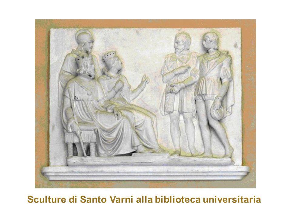 Sculture di Santo Varni alla biblioteca universitaria