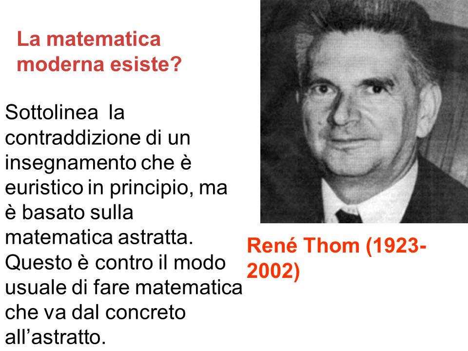 La matematica moderna esiste