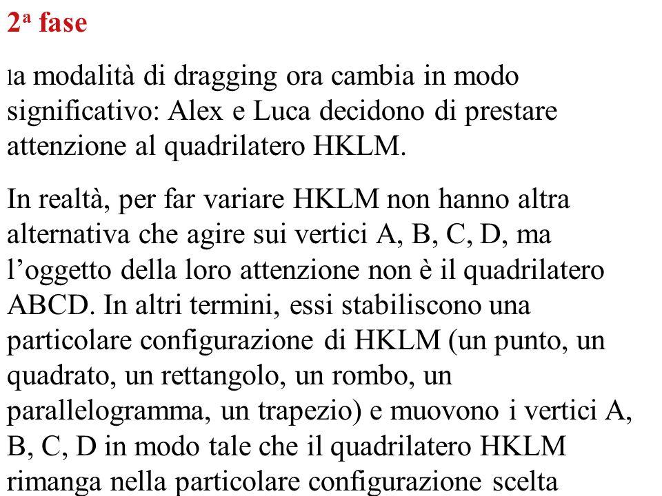 2a fase la modalità di dragging ora cambia in modo significativo: Alex e Luca decidono di prestare attenzione al quadrilatero HKLM.