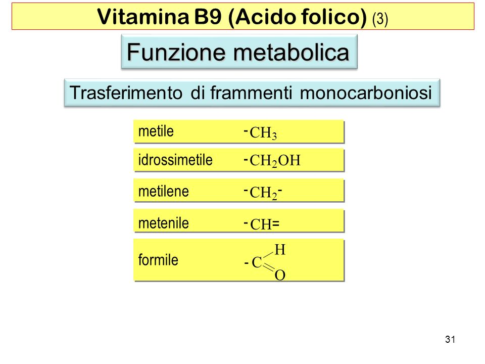 Vitamina B9 (Acido folico) (3)