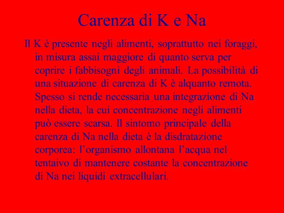 Carenza di K e Na