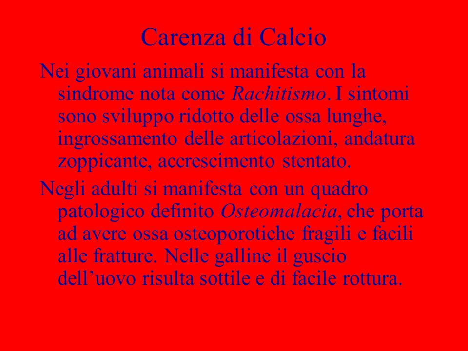 Carenza di Calcio