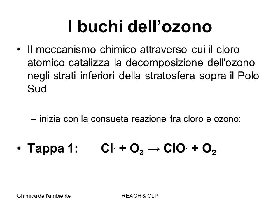 I buchi dell'ozono Tappa 1: Cl. + O3 → ClO. + O2