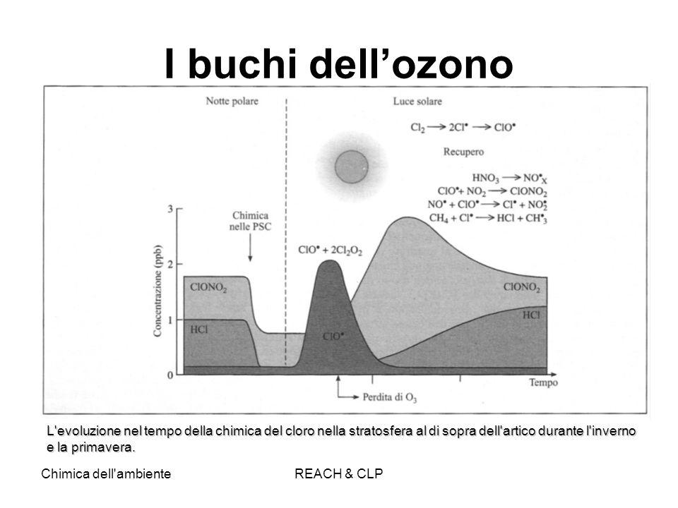 I buchi dell'ozono L evoluzione nel tempo della chimica del cloro nella stratosfera al di sopra dell artico durante l inverno e la primavera.