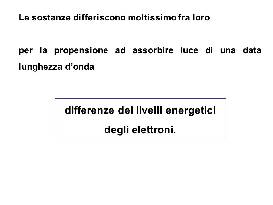 differenze dei livelli energetici