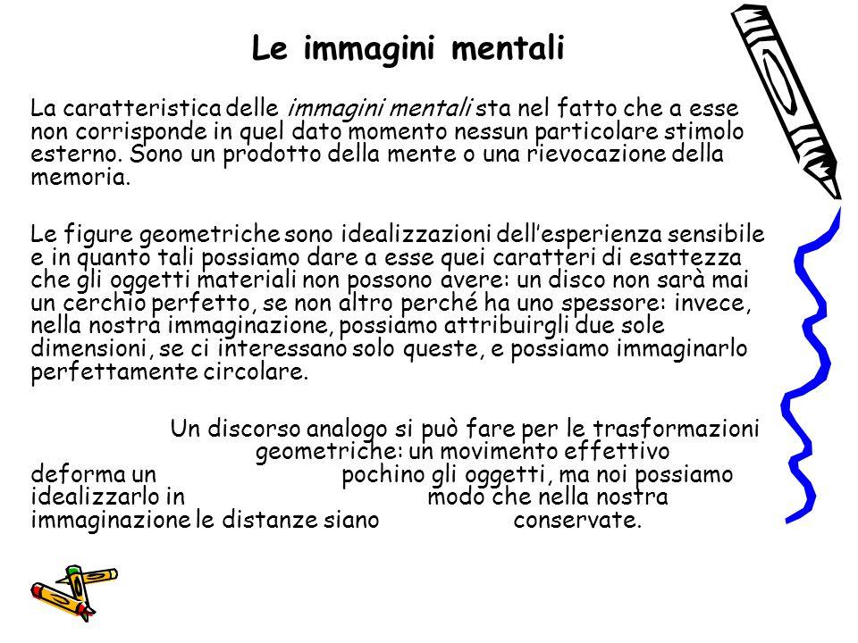 Le immagini mentali