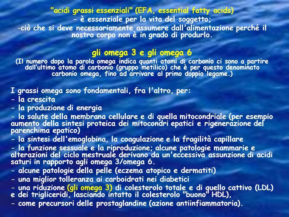 acidi grassi essenziali (EFA, essential fatty acids)