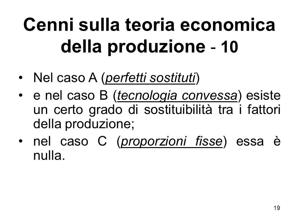 Cenni sulla teoria economica della produzione - 10