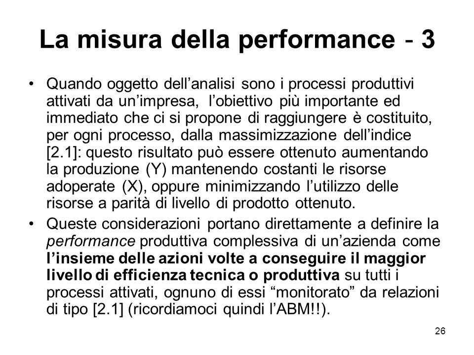 La misura della performance - 3