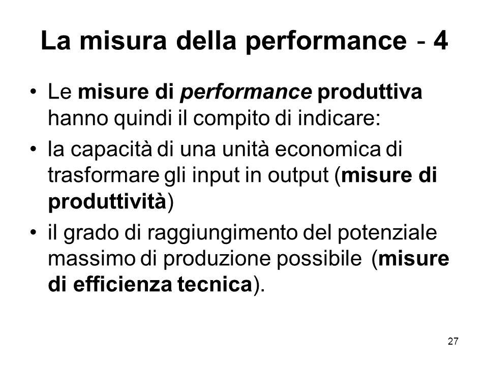 La misura della performance - 4
