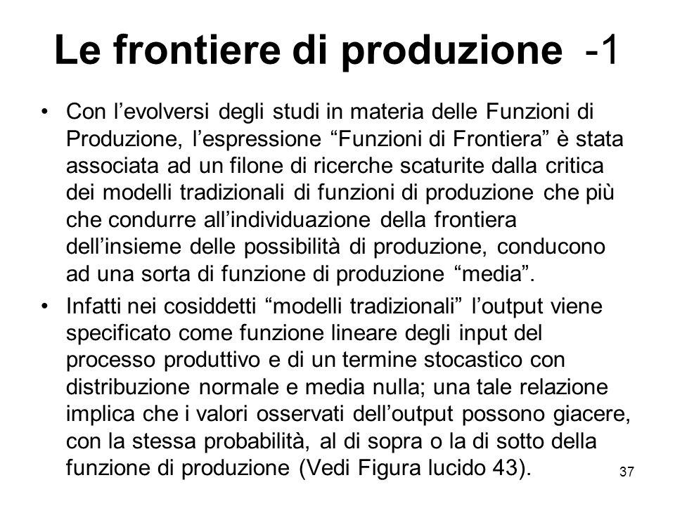 Le frontiere di produzione -1