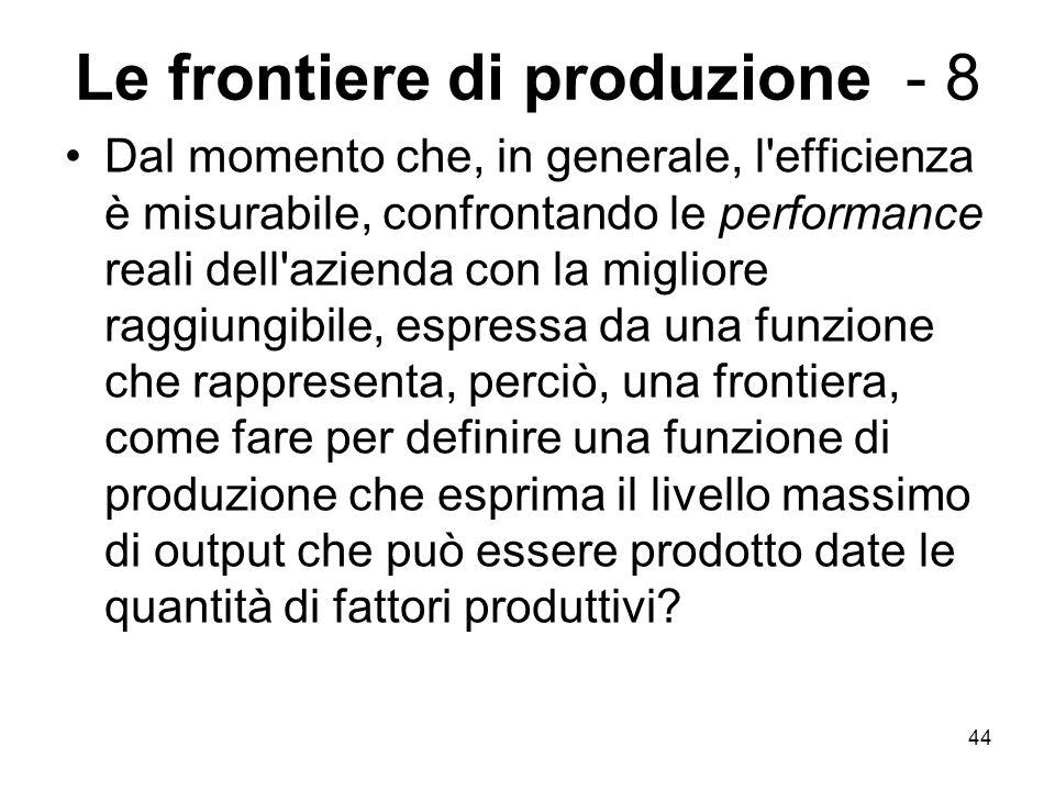 Le frontiere di produzione - 8