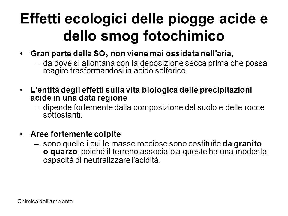Effetti ecologici delle piogge acide e dello smog fotochimico