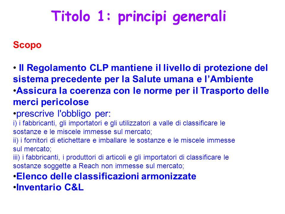 Titolo 1: principi generali