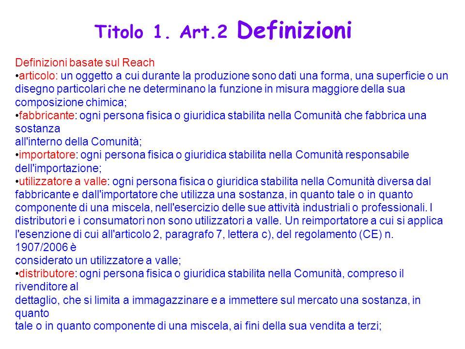 Titolo 1. Art.2 Definizioni