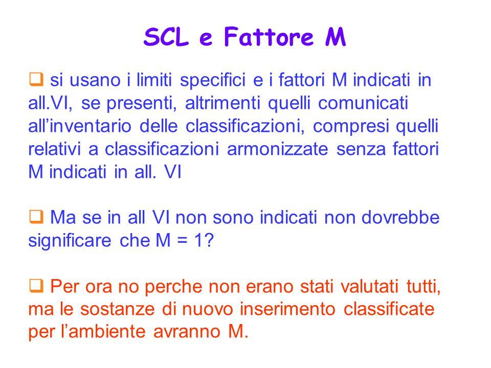SCL e Fattore M