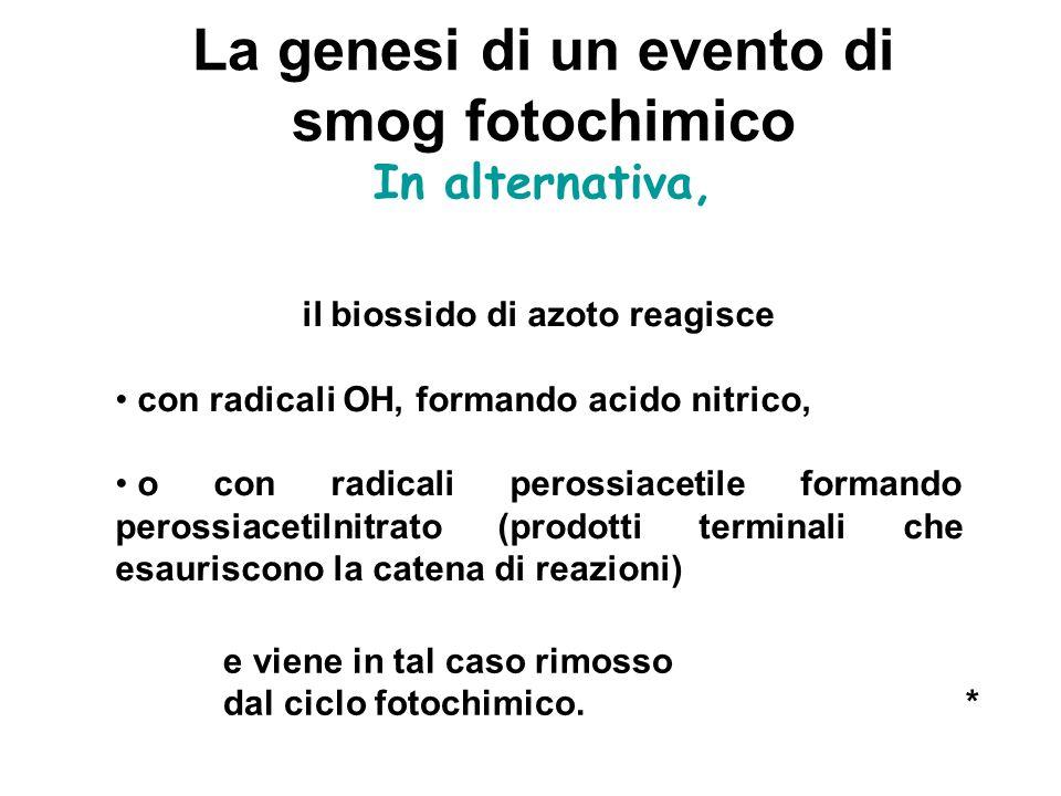La genesi di un evento di il biossido di azoto reagisce