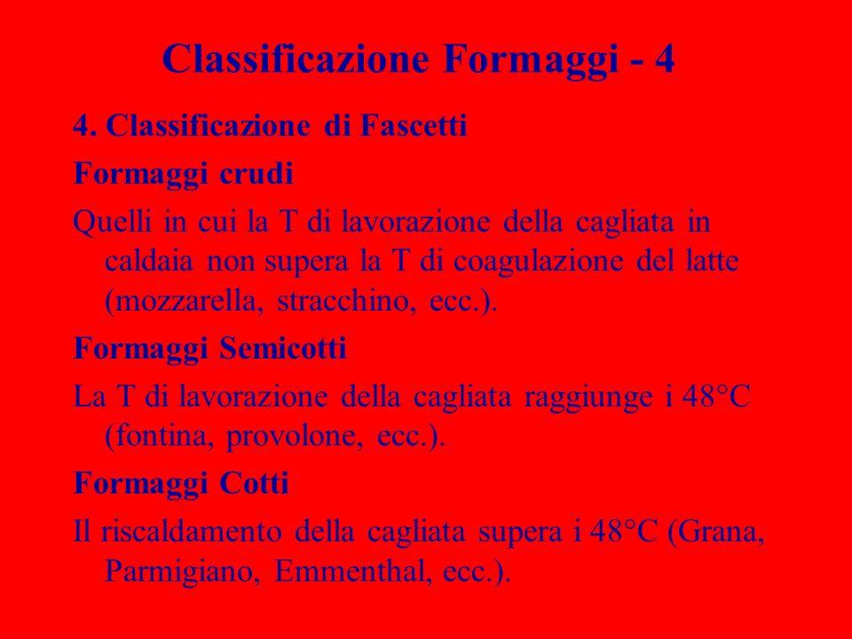 Classificazione Formaggi - 4