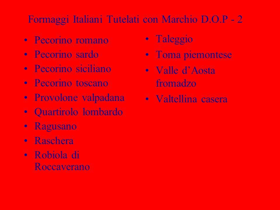 Formaggi Italiani Tutelati con Marchio D.O.P - 2