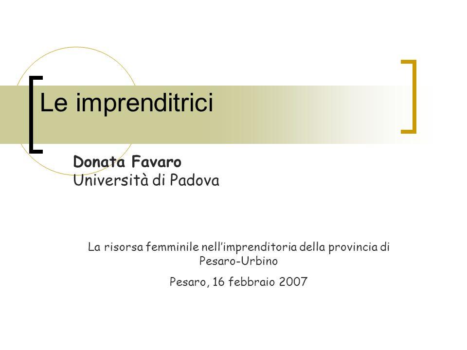 Donata Favaro Università di Padova