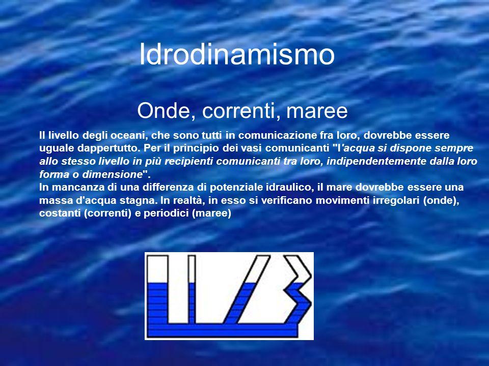 Idrodinamismo Onde, correnti, maree
