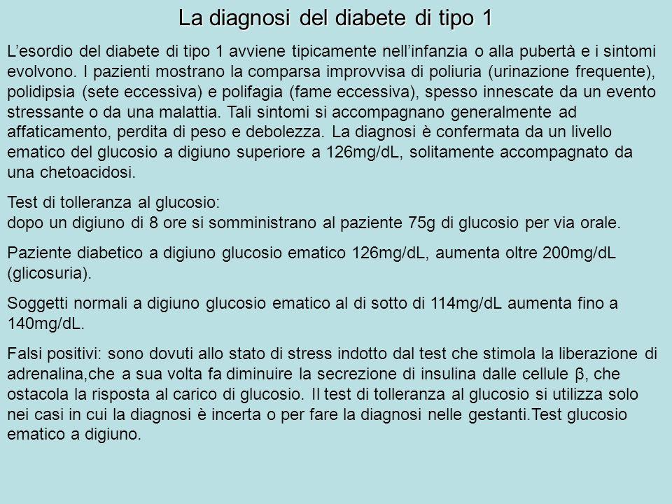 La diagnosi del diabete di tipo 1