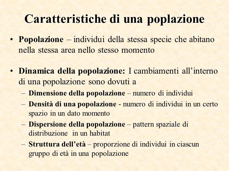 Caratteristiche di una poplazione