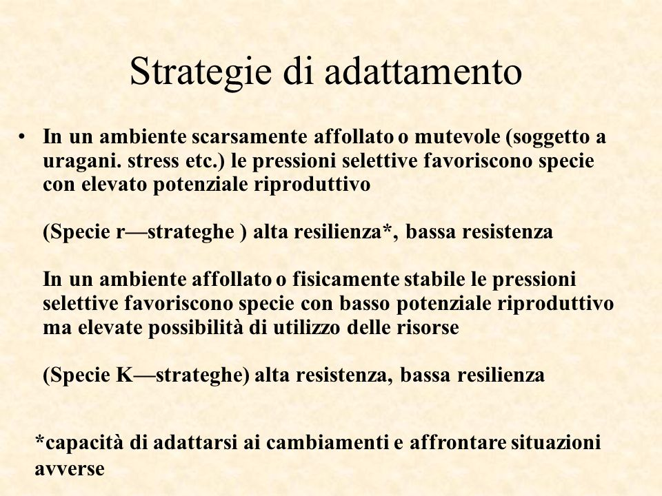Strategie di adattamento