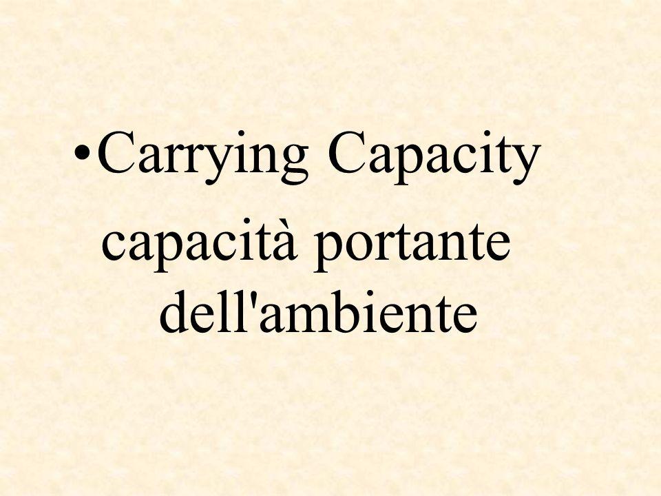 capacità portante dell ambiente