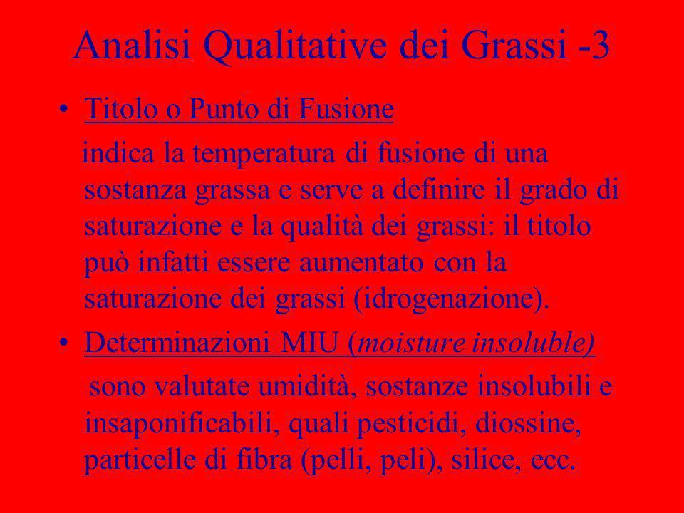 Analisi Qualitative dei Grassi -3