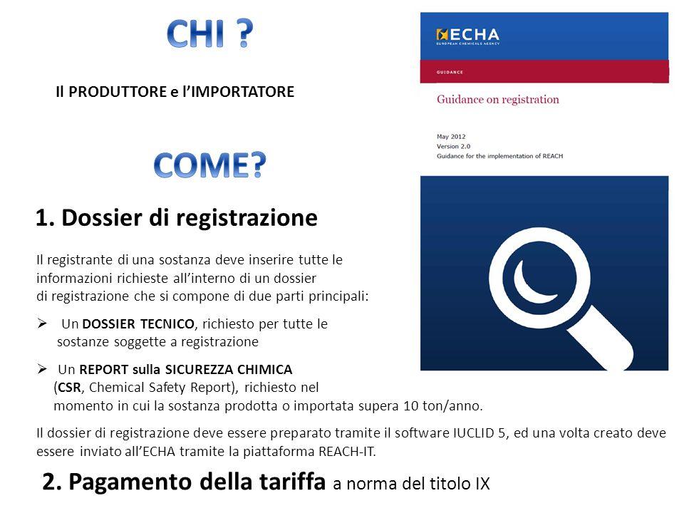 CHI COME 1. Dossier di registrazione