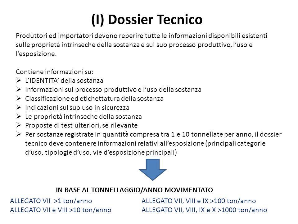 (I) Dossier Tecnico