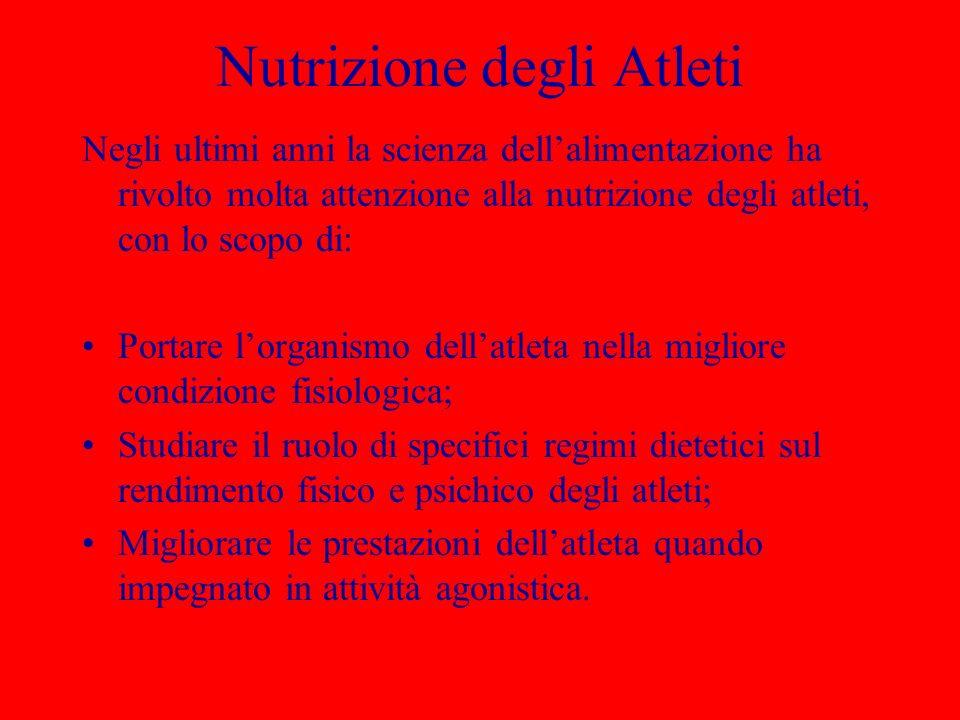 Nutrizione degli Atleti