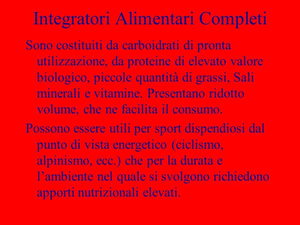 Integratori Alimentari Completi