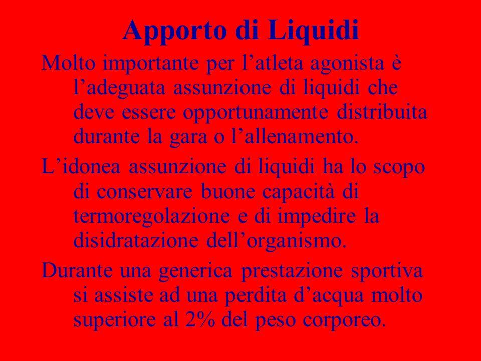 Apporto di Liquidi