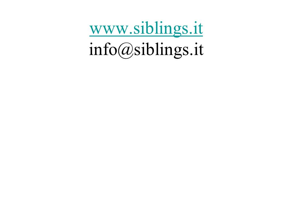 www.siblings.it info@siblings.it