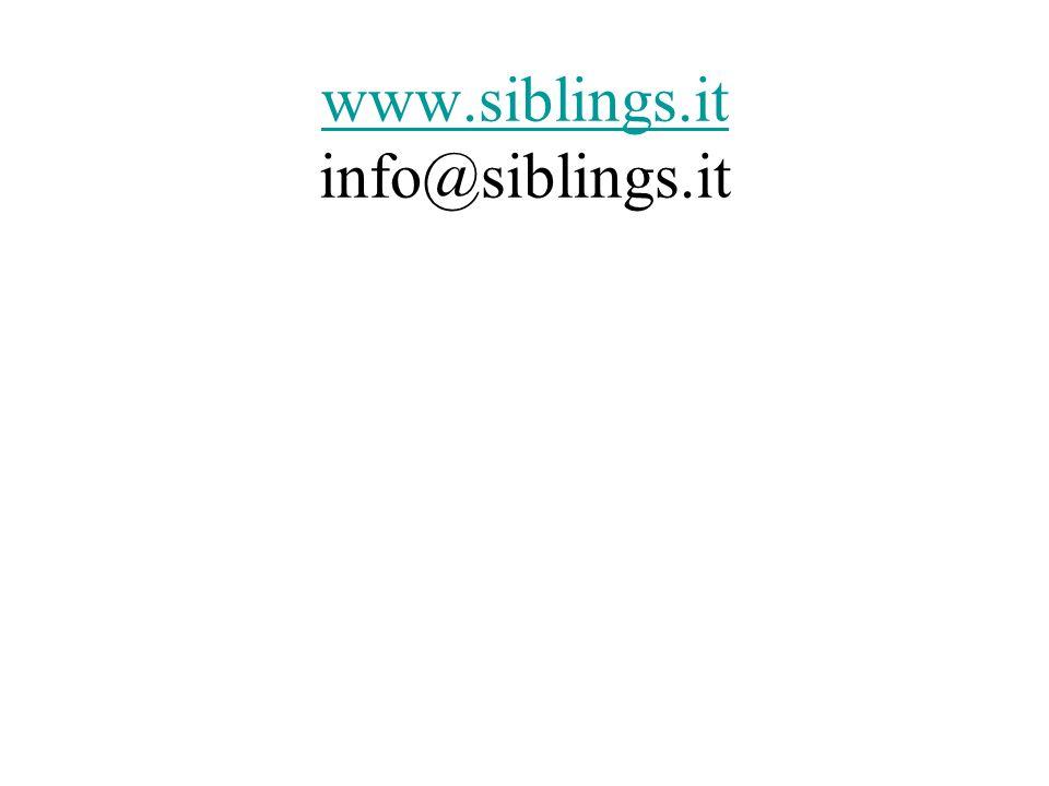www.siblings.it info@siblings.it