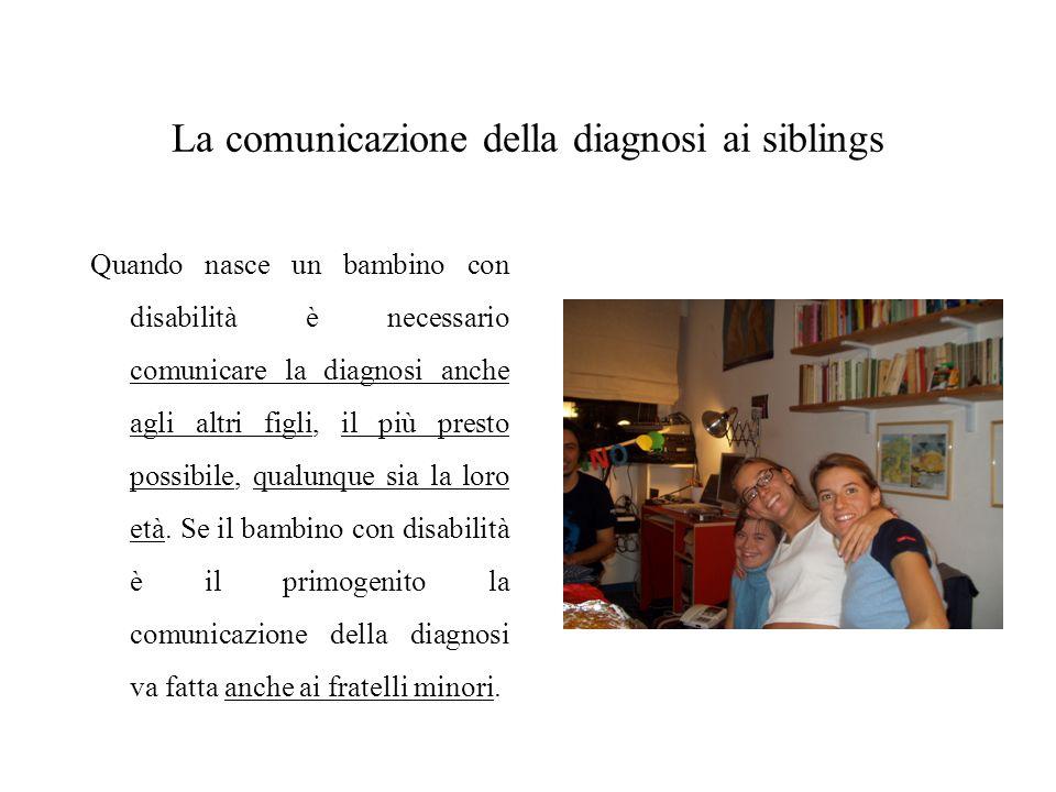 La comunicazione della diagnosi ai siblings