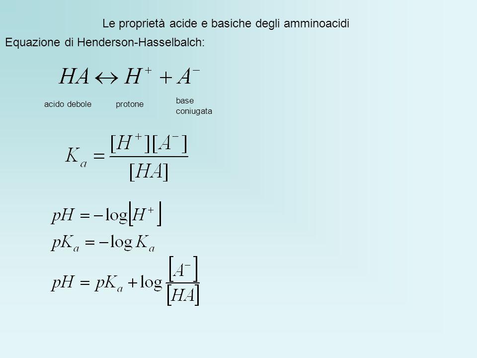 Le proprietà acide e basiche degli amminoacidi