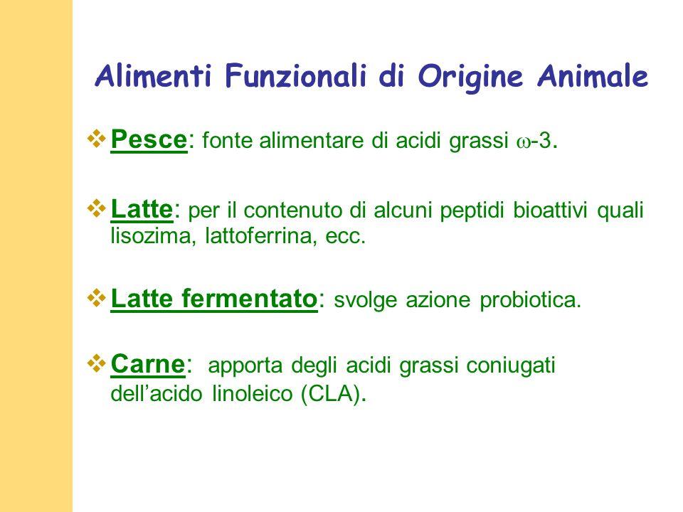 Alimenti Funzionali di Origine Animale