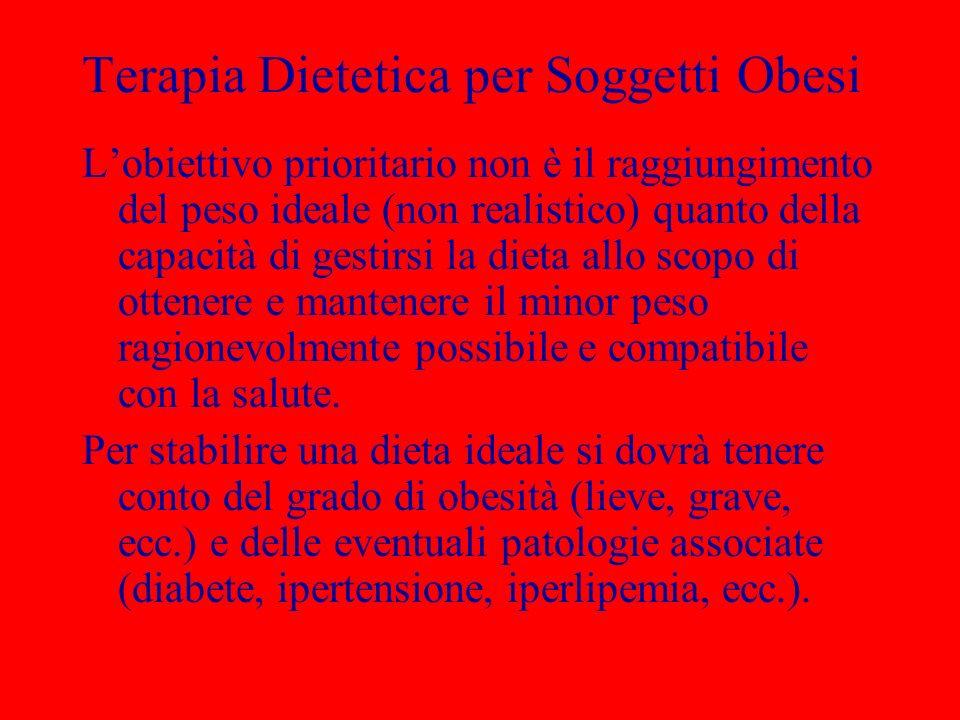 Terapia Dietetica per Soggetti Obesi