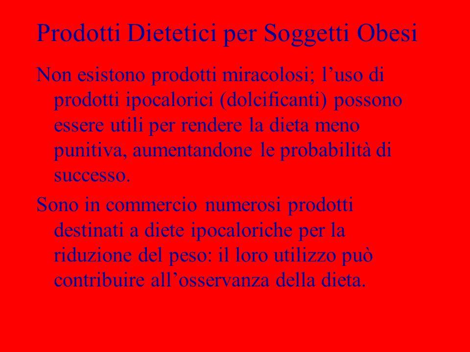 Prodotti Dietetici per Soggetti Obesi