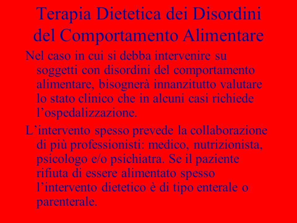 Terapia Dietetica dei Disordini del Comportamento Alimentare