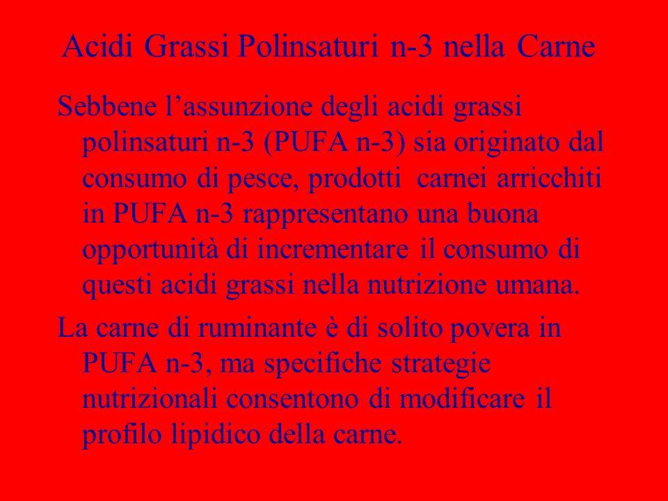 Acidi Grassi Polinsaturi n-3 nella Carne