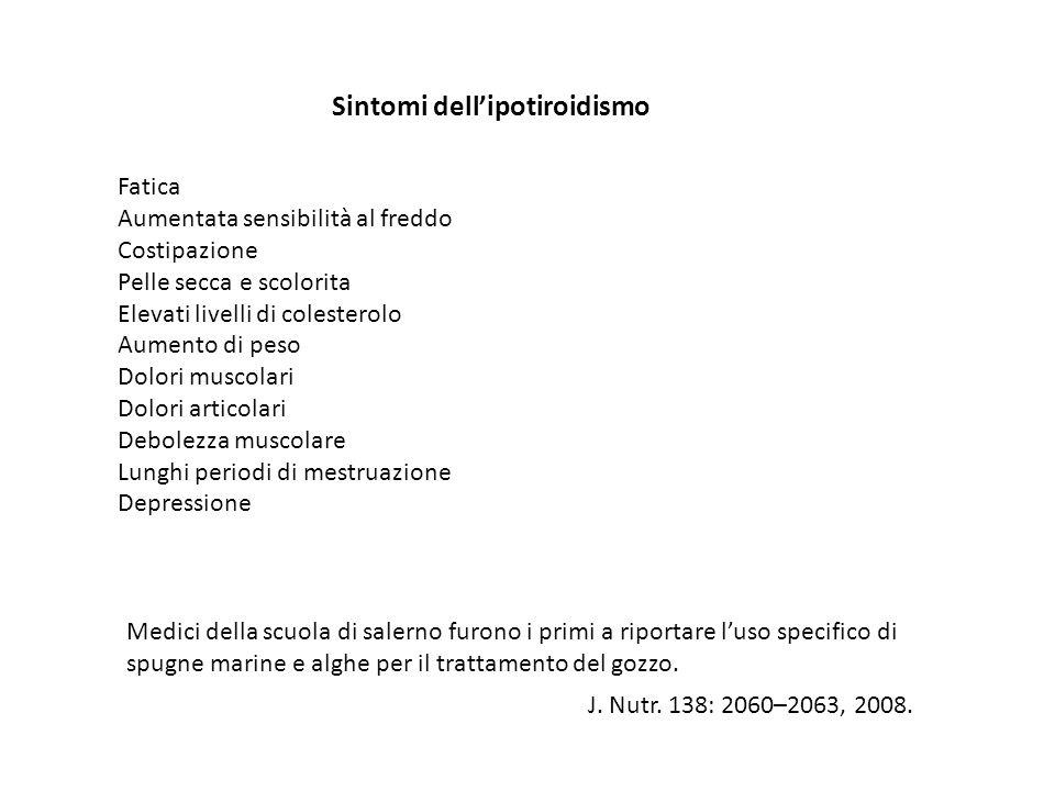 Sintomi dell'ipotiroidismo
