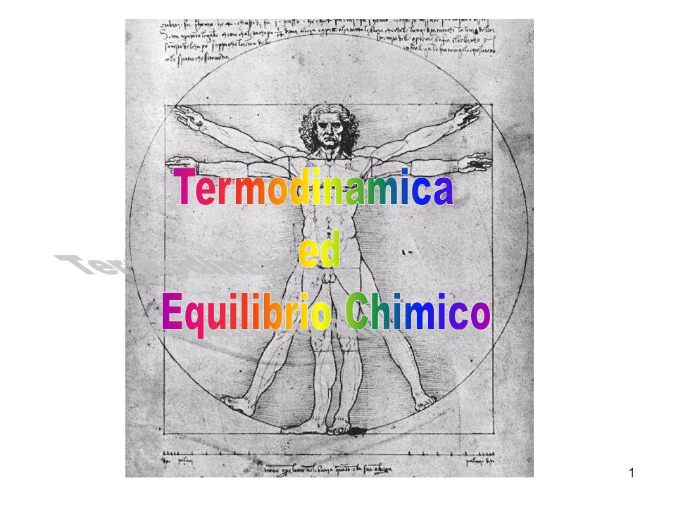Termodinamica ed Equilibrio Chimico 1