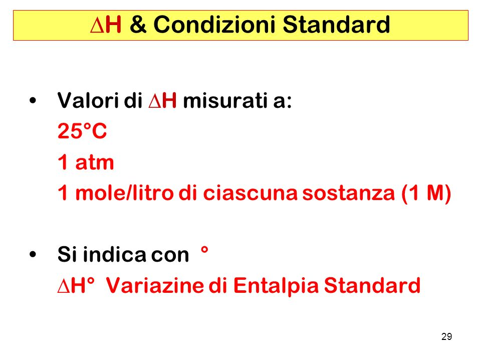 DH & Condizioni Standard