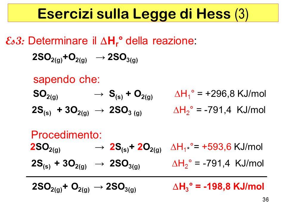 Esercizi sulla Legge di Hess (3)